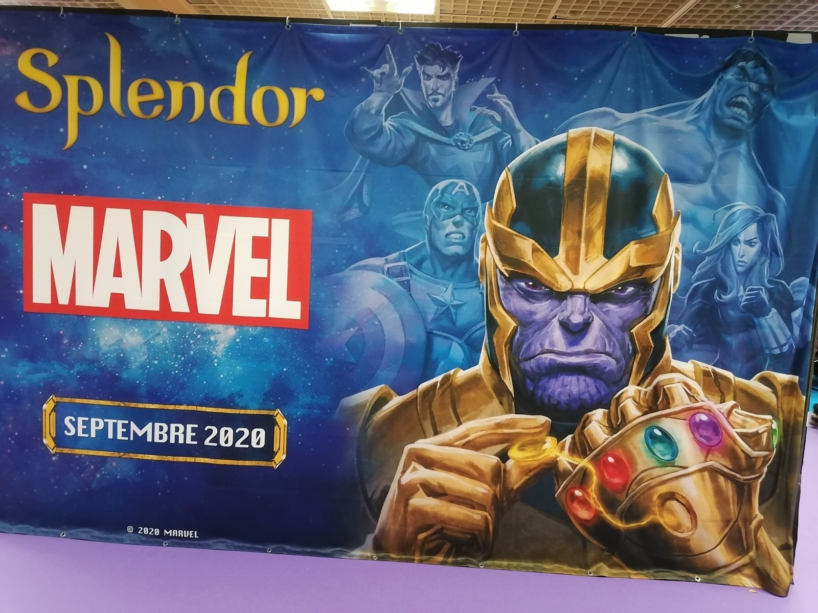 Teaser Banner de Splendor Marvel, no Festival de Jogos de Cannes