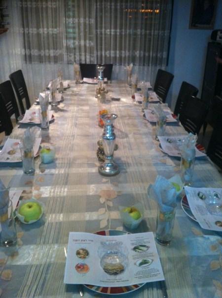 שולחן לראש השנה