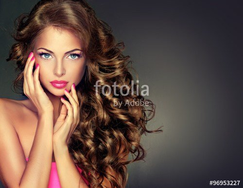 The Best Beautiful Model Brunette With Long Curled Hair Pictures