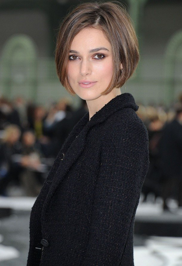 The Best Kiera Knightly Angled Bob Haircut Women Hairstyles Pictures