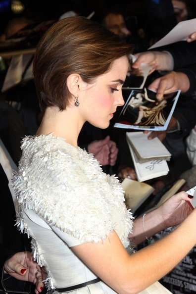 The Best Emma Watson Brushed Back Pixie Hair Cut Women Hairstyles Pictures