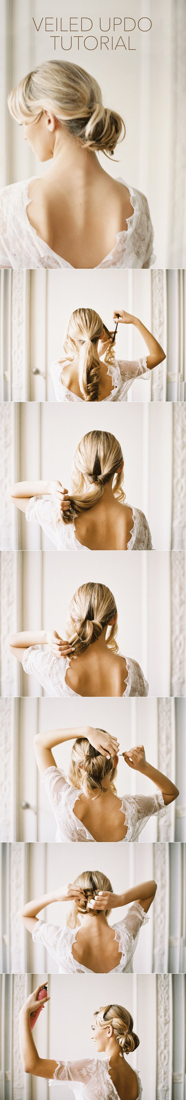 The Best Wedding Hairstyles With Drop Veil Tutorial Once Wed Pictures