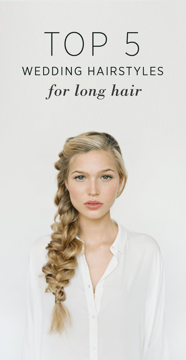 The Best Hairstyles For Long Hair Diy Weddings Oncewed Com Pictures