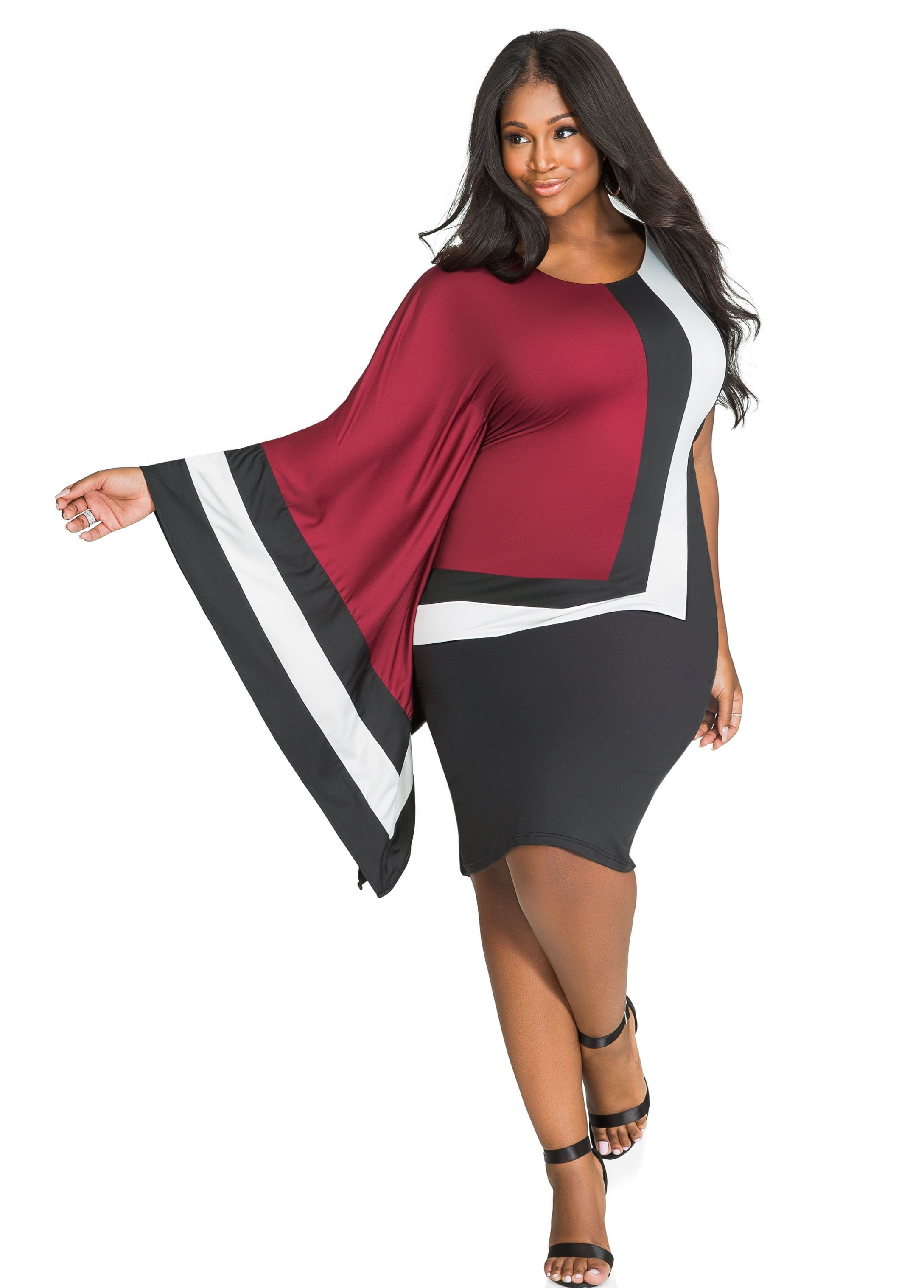 The Best Plus Size Dresses Mod Block Print Scarf Style Pictures