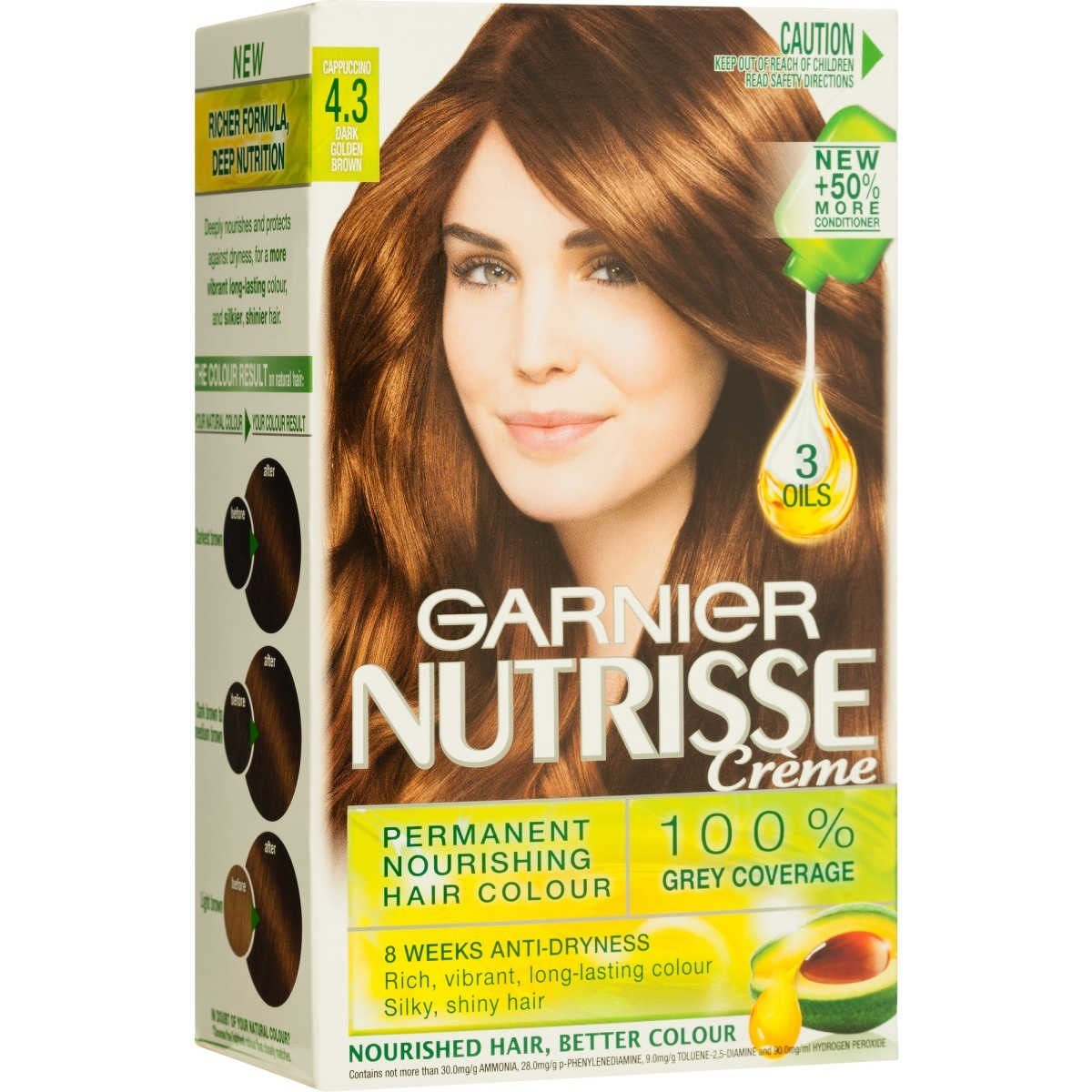 The Best Garnier Nutrisse Creme Permanent Nourishing Hair Colour 4 3 Cappuccino Dark Golden Brown Big W Pictures