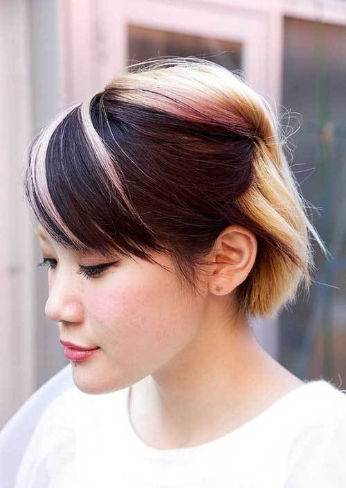 The Best Two Tone Hair Color For Short Hair Pictures