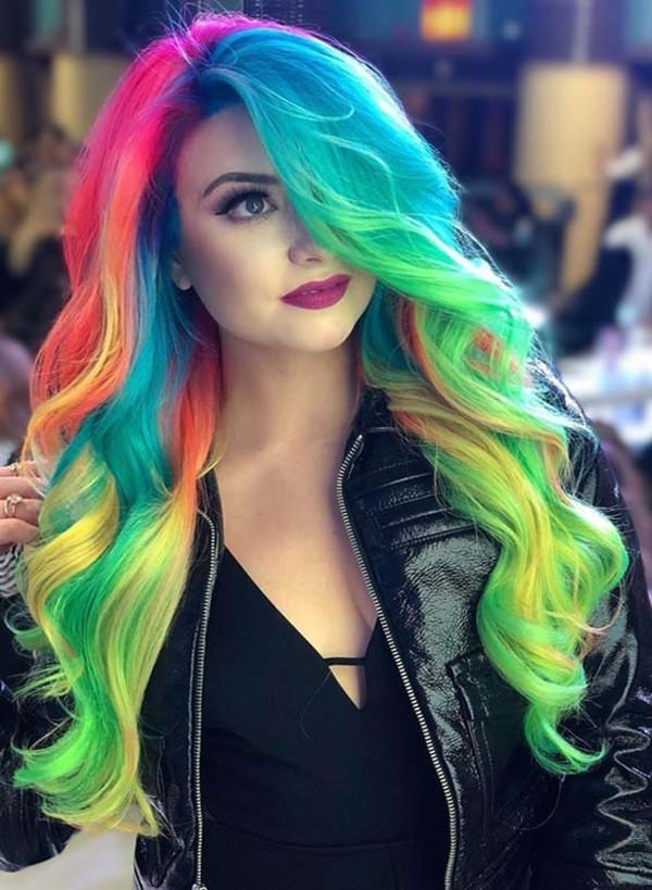 The Best 97 Cool Rainbow Hair Color Ideas To Rock Your Summer Pictures