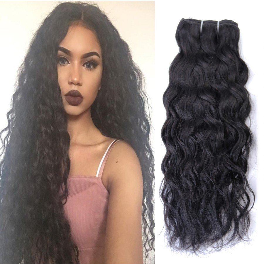 The Best Brazilian Natural Wave Human Hair Water Wave Hair 3 Pictures