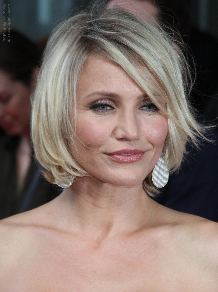 The Best Cameron Diaz Wearing Her Hair Short In A Chin Length Bob Pictures