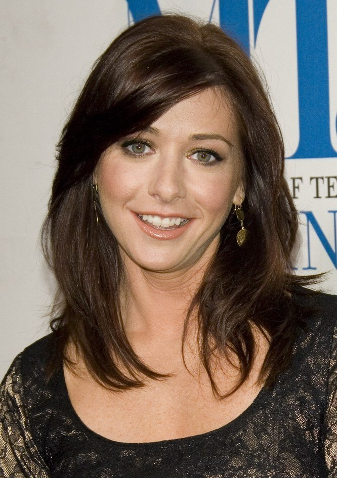 The Best Alyson Hannigan S Hairstyle For A Diamond Shaped Face Pictures