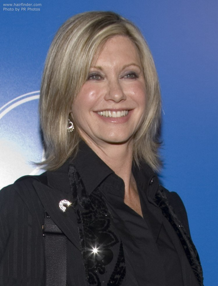 The Best Olivia Newton John Wearing Her Hair In A Medium Hairstyle Pictures