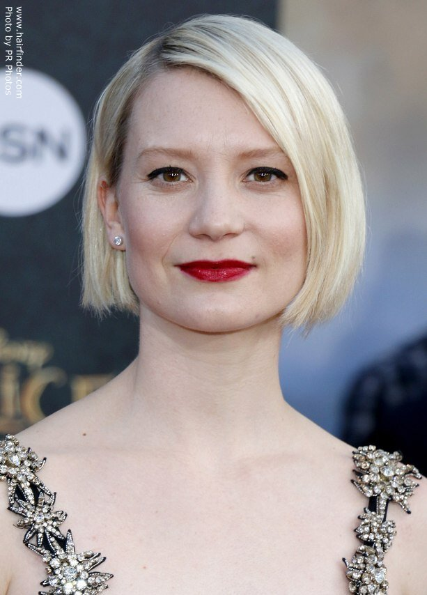 The Best Mia Wasikowska S Short Bob With A Short Nape And Angled Sides Pictures