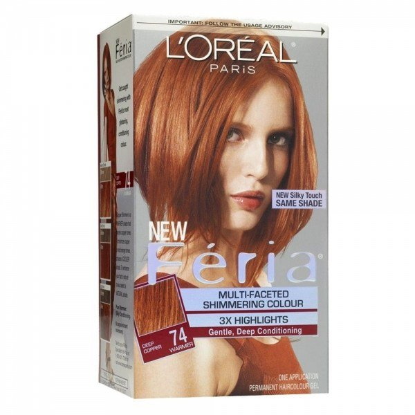 The Best Loreal Feria Hair Color 74 Copper Shimmer Deep Copper Blonde 1 Ea Loreal Hair Pictures