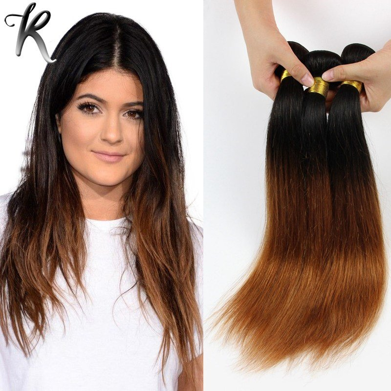 The Best 4Pcs Dip Dye Ombre Hair Extensions Cheap Brazilian V*Rg*N Pictures