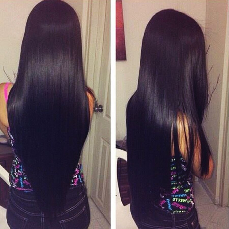 The Best 7A Indian V*Rg*N Hair Straight Human Hair Extensions Raw Pictures