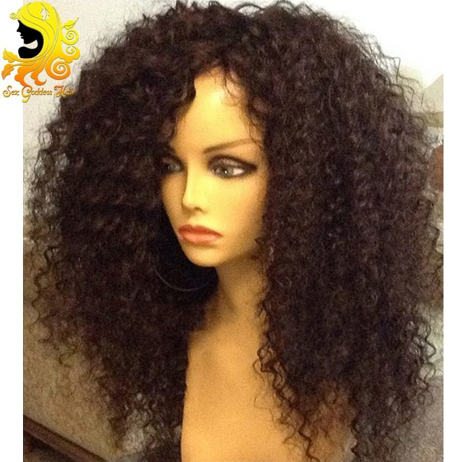 The Best Brazilian K*Nky Curly Full Lace Wig Unprocessed V*Rg*N Pictures