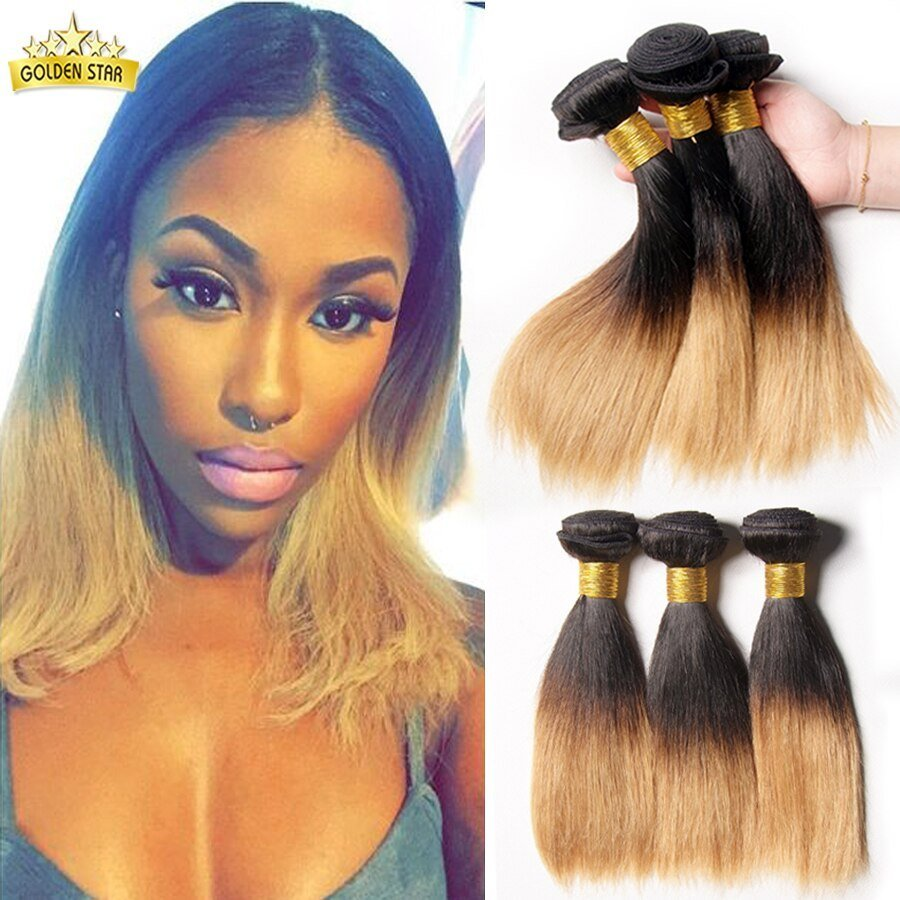 The Best Two Tone Brazilian Weave Hair Silky Straight Ombre Brazillian Straight Short Human Hair Two Tone Pictures
