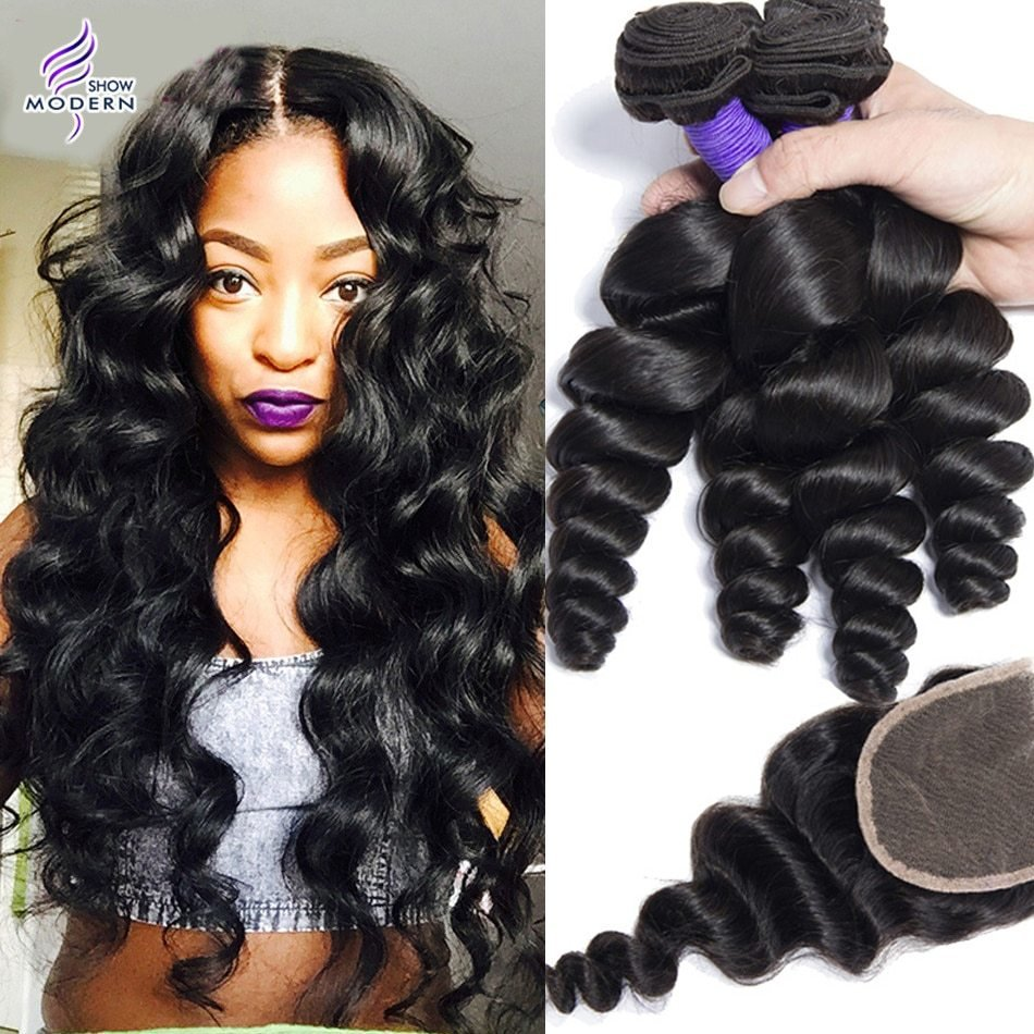The Best Mink 8A Brazilian V*Rg*N Hair Loose Wave With Closure Pictures