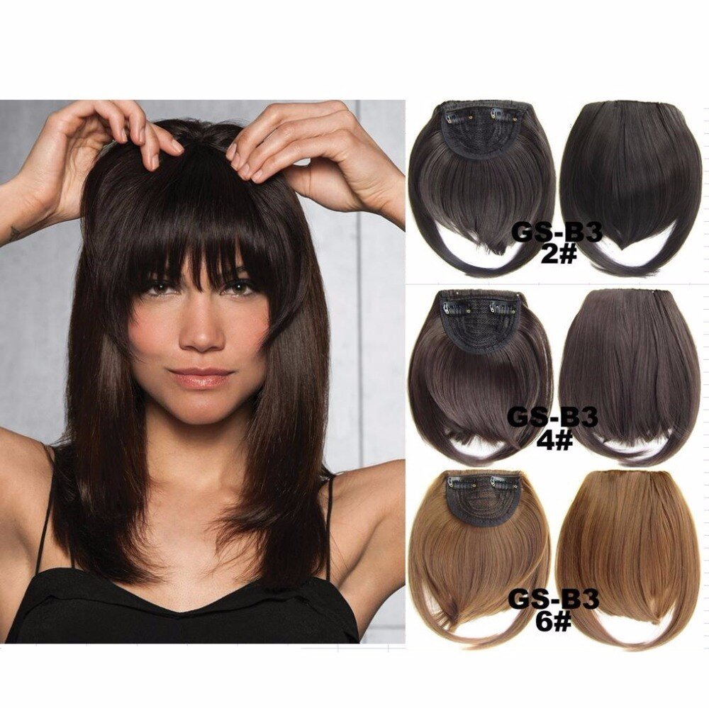 The Best Aliexpress Com Buy Clip In Fringe Blunt Bangs Cute And Pictures