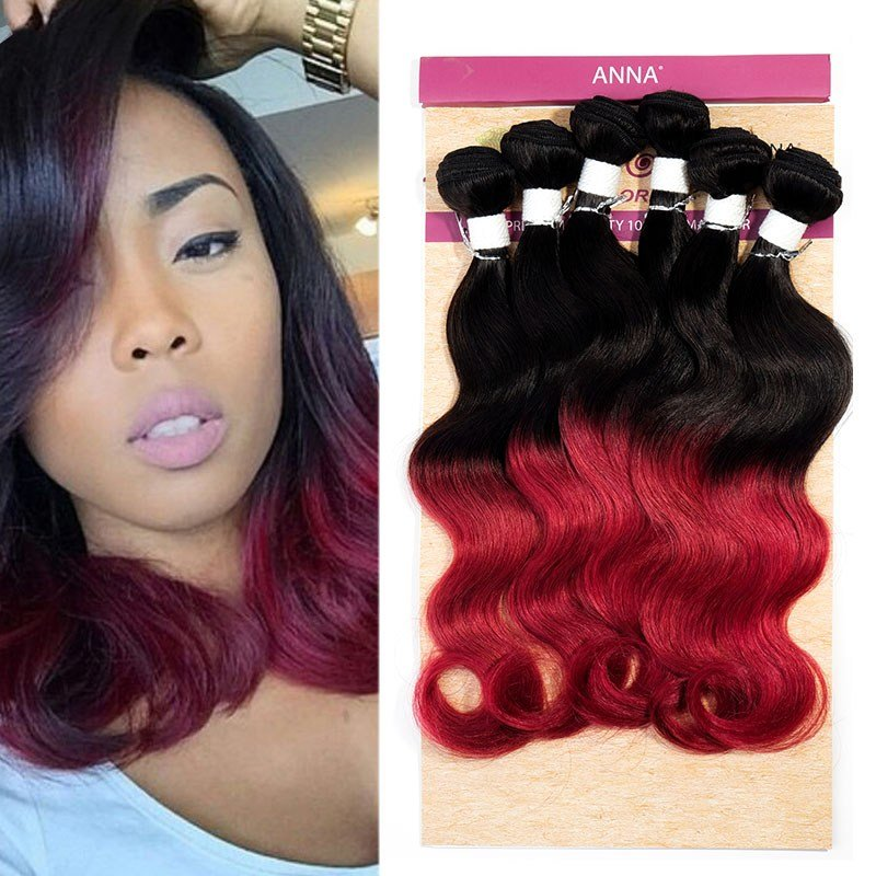 The Best Evet Brazilian V*Rg*N Hair Body Wave Ombre Weave Two Tone Brazilian Weave Hair Remy Human Hair Pictures