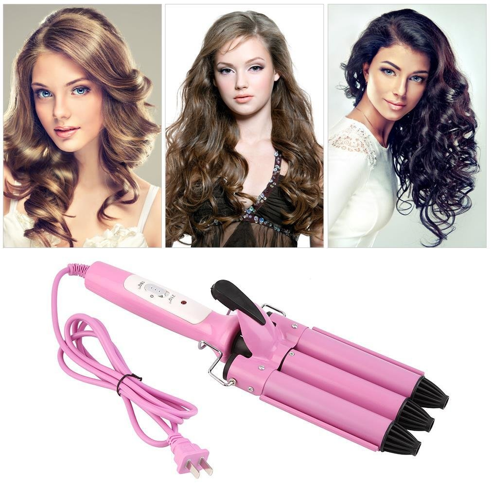 The Best Professional Three Barrel Triple Barrel Ceramic Hair Curling Iron Deep Waver Curler Tool All Pictures
