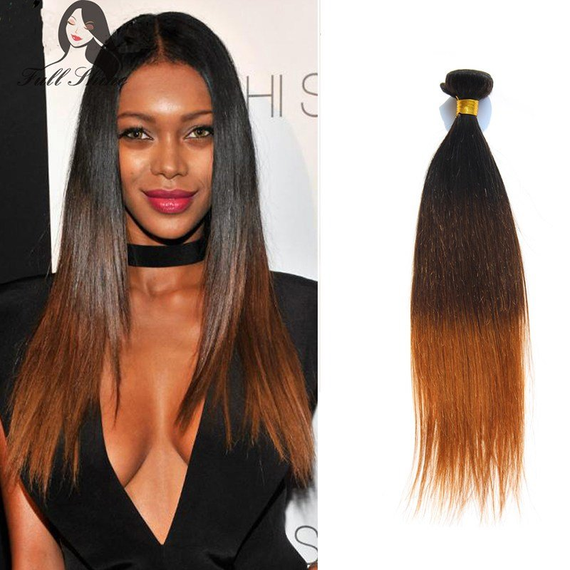 The Best Full Shine Three Toned Colored Weave Ombre Brazilian Hair Pictures