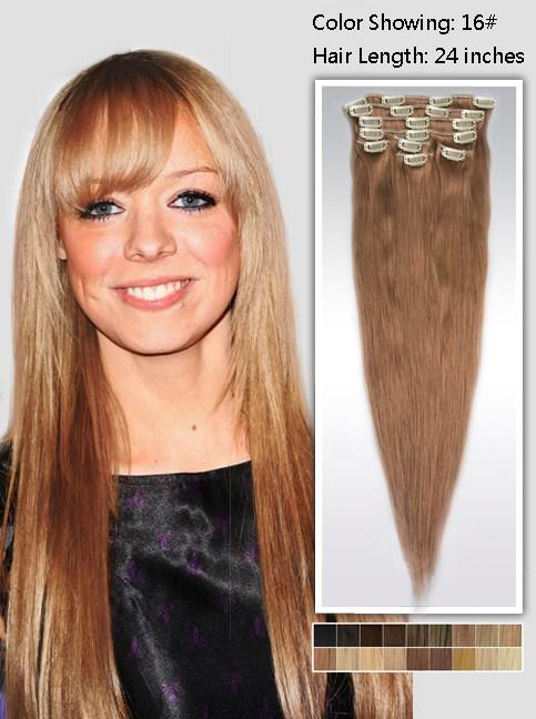 The Best 24 Inch Straight Brown Hair Extensions 135G Uss1624 Pictures