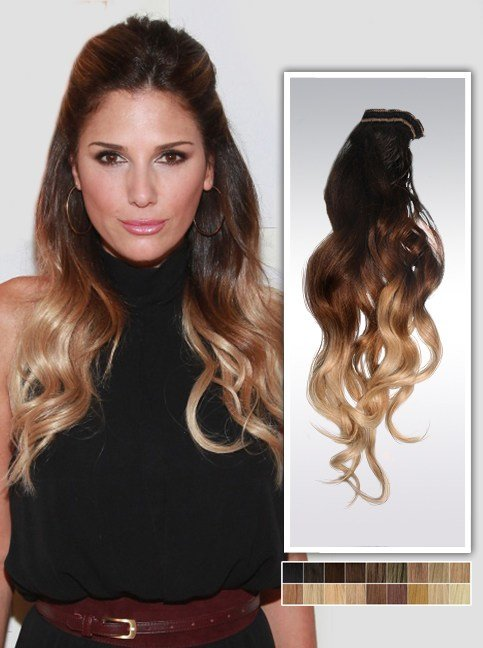 The Best Daisy Fuentes Three Tone Human Hair Extensions Usw182 Pictures