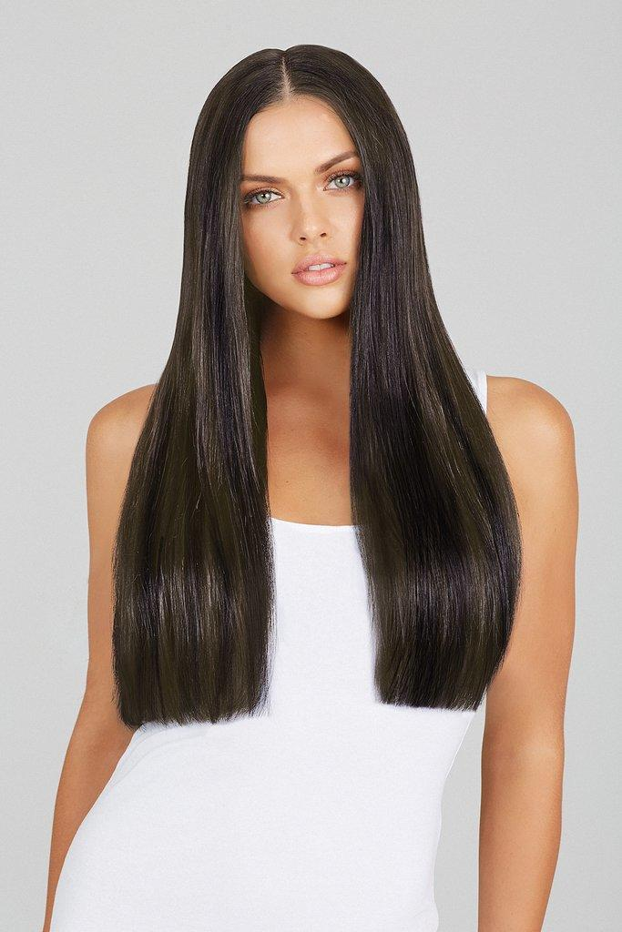 The Best Mixed Brown 20 Inch Clip In Hair Extensions Leyla Milani Hair Pictures