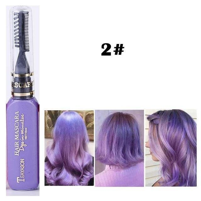 The Best 13 Colors One Time Hair Color Hair Dye Temporary Non Toxic Diy Hair Color Mascara Dye Cream Blue Pictures