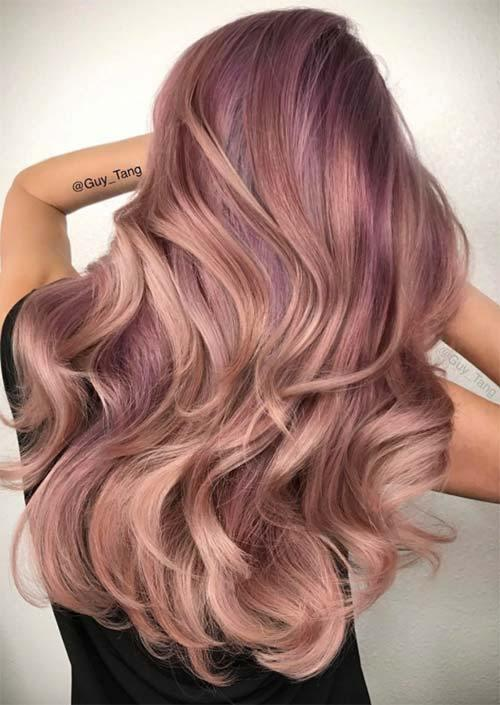 The Best 52 Charming Rose Gold Hair Colors How To Get Rose Gold Pictures
