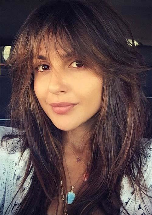 The Best 55 Long Haircuts With Bangs For 2019 Tips For Wearing Fringe Hairstyles Glowsly Pictures