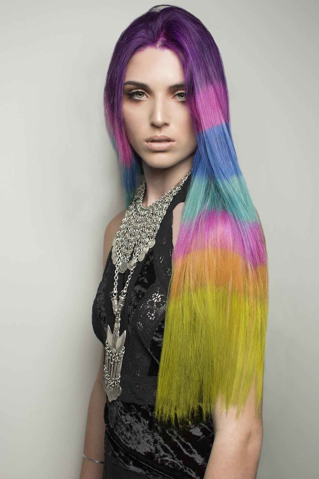 The Best The Color Blocked Hair Dye Trend Takes Rainbow Hair To The Next Level Brit Co Pictures