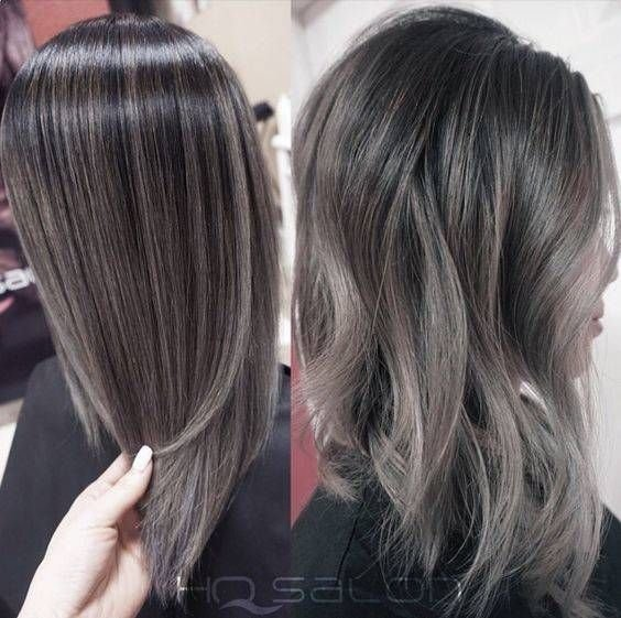 The Best Gray Silver Black Hair Color Melt Hairstyle In 2019 Pictures