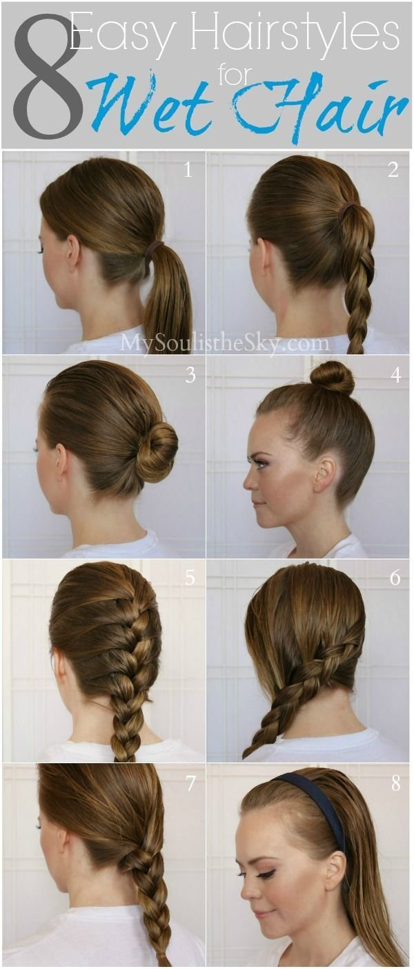 The Best 8 Easy Hairstyles For Wet Hair Perfect For When You Re Pictures