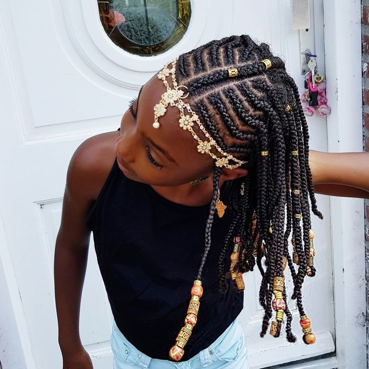 The Best Braids And Beads Natural Hairstyles For Girls Pictures