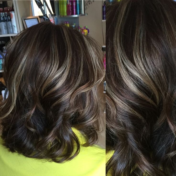 The Best Medium Brown Hair Color With Light Beige Highlights On The Pictures