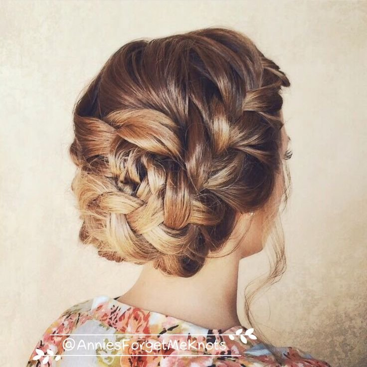 The Best Loose French Braid Updo Wedding Hair Pictures