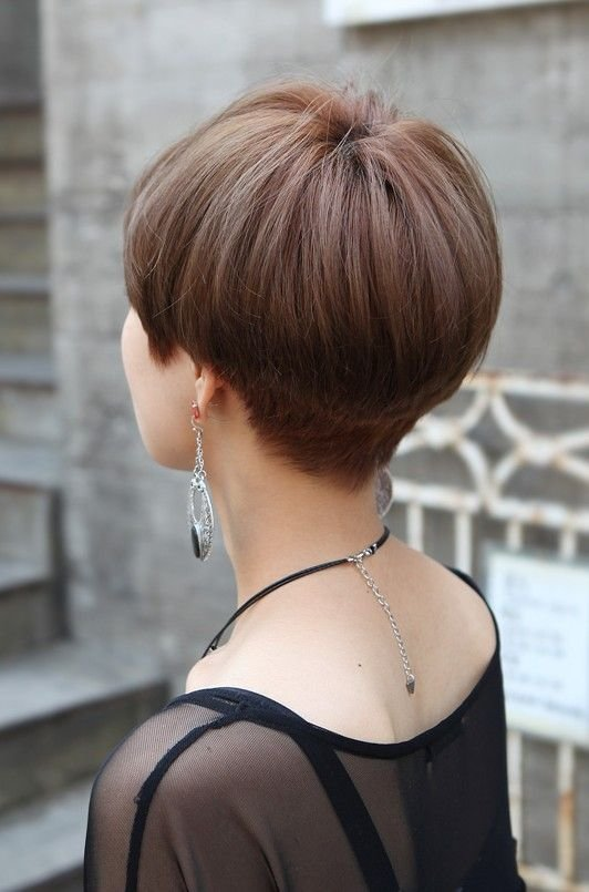 The Best Back View Of Cute Short Japanese Haircut Back View Of Bowl Mushroom Haircut In 2019 Short Pictures