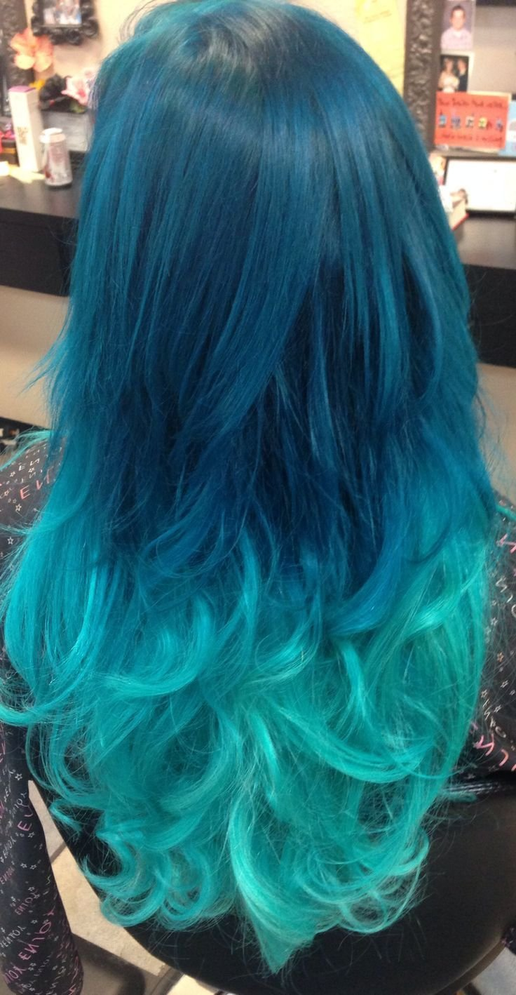 The Best Turquoise Pastel Ombré Hair With Extensions Added In For Pictures