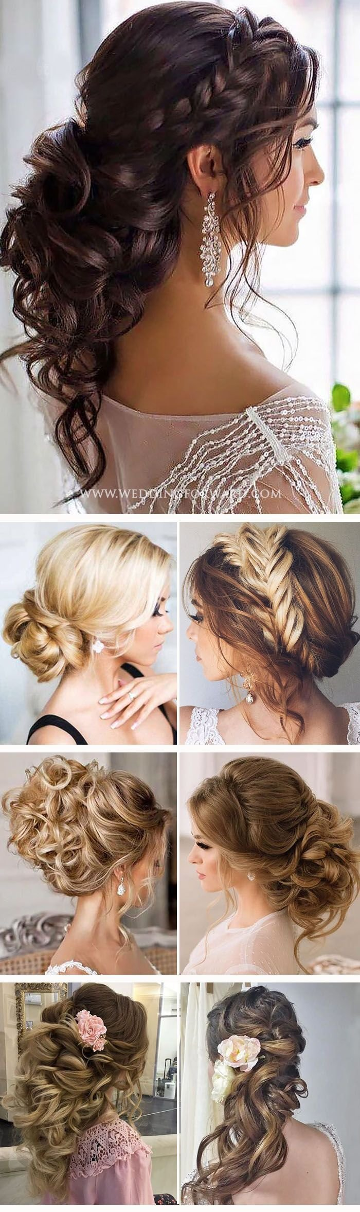The Best 36 Trendy Swept Back Wedding Hairstyles Peinados Prom Pictures