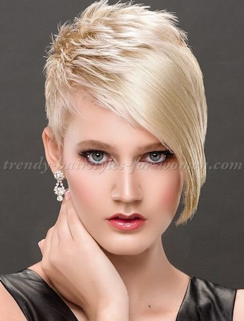 The Best Short Hairstyles With Long Bangs Short Asymmetrical Pictures