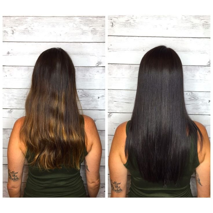 The Best Sleek Dark Brown Black Hair Long Layers Joico 4N By Pictures