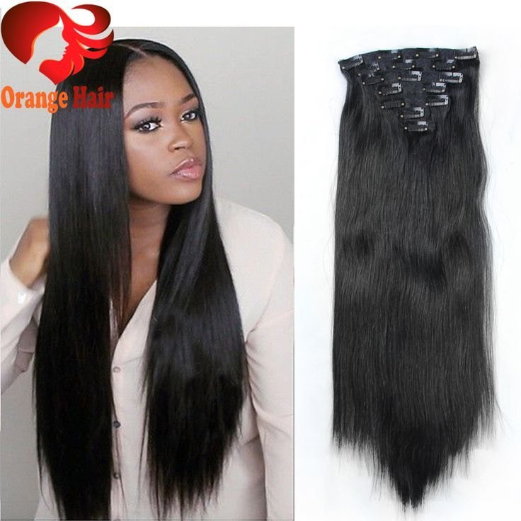 The Best Cheap Silky Straight Remy Human Hair Clip In Extensions Brazilian Clip In Hair Extensions For Pictures