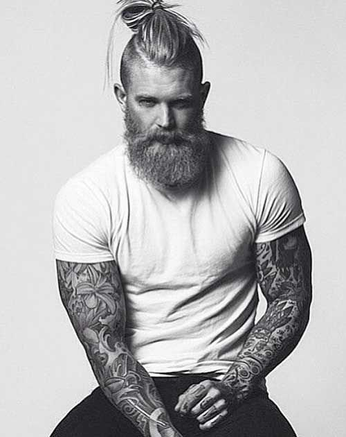 The Best Side Shaved Long Hair Bun For Men Hairstyle Hair Beard Styles S*Xy Beard Hair Cuts Pictures