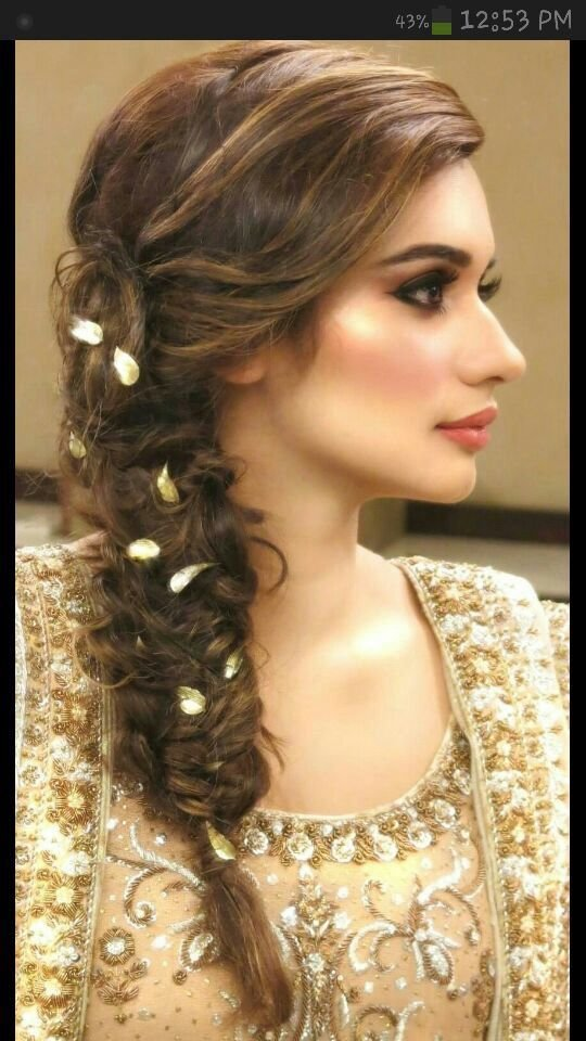 The Best Flower Braid Hairstyless Pinterest Pakistani Bridal Hairstyles Mehndi Hairstyles And Pictures