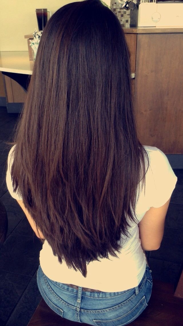 The Best Awesome V Cut • Layered • Long Layers • Long Hair • Long Pictures