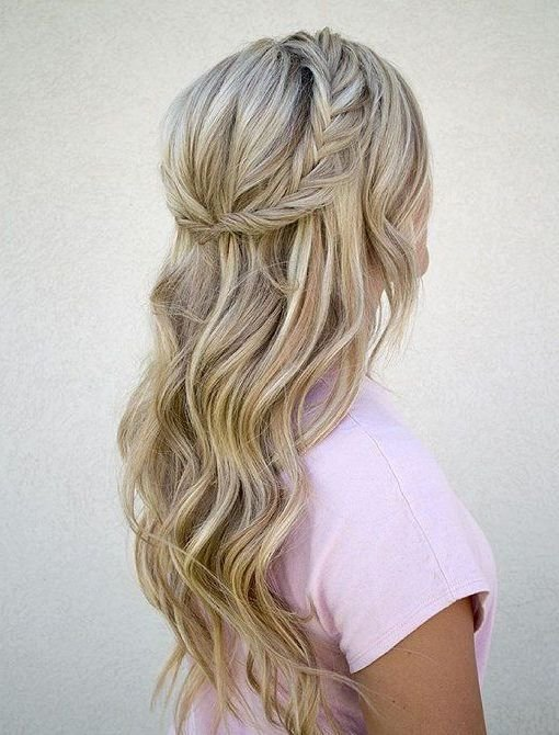 The Best Halfway Up Hairstyle Inspiration For Winter 2016 2017 Hairs 2017 Hair Styles Prom Hair Pictures