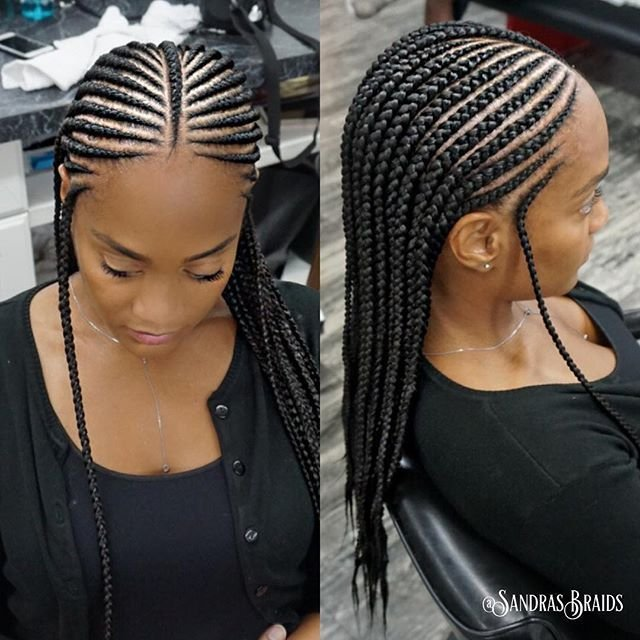 The Best Perfect For Vacation ☀️2Rows Braids Cornrows Natural Pictures