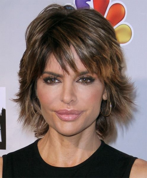 The Best Lisa Rinna Haircut S*Xy Layered Razor Cut For Thick Hair Pictures